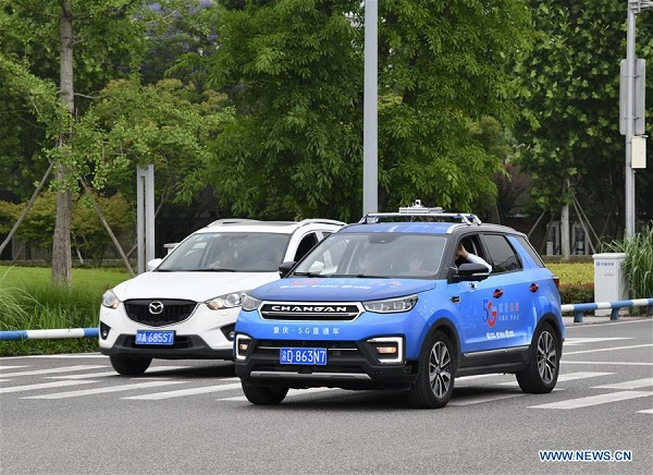 5G remote-controlled car tested in Chongqing